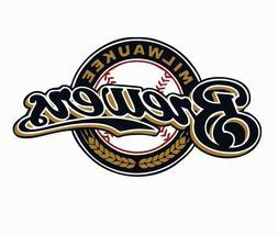 milwaukee brewers mlb baseball color logo sports