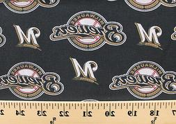 Milwaukee Brewers MLB Baseball Sports Team Cotton Fabric Pri