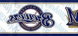 Milwaukee Brewers MLB Baseball Team Sport Fan Modern Blue Wa