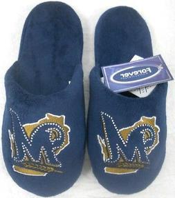 Milwaukee Brewers MLB Licensed Women's Jeweled Slide Slipper