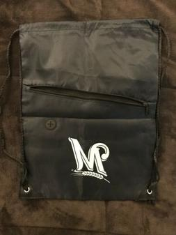 Milwaukee Brewers MLB Logo Drawstring Tote Backpack And Zip