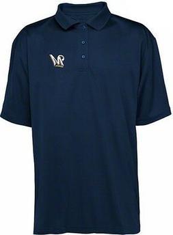 Milwaukee Brewers MLB Majestic Dri Fit Navy Polo Golf Shirt