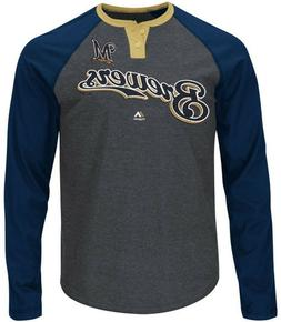 Milwaukee Brewers MLB Mens Ready To Go Long Sleeve Raglan Sh