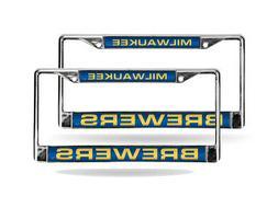 Milwaukee Brewers MLB  Chrome Metal Laser Cut License Plate