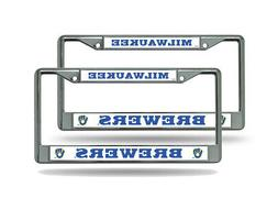 Milwaukee Brewers MLB  Chrome Metal License Plate Frames