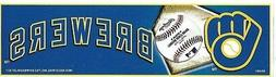 MILWAUKEE BREWERS OFFICIALLY LICENSED BUMPER STICKER / DECAL