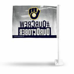 Milwaukee Brewers Our Crew, Our October Car Flag