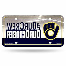Milwaukee Brewers Our Crew, Our October License Plate Cover