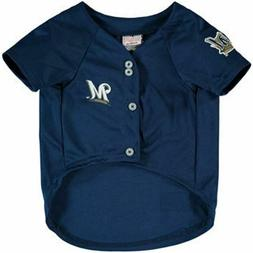 Milwaukee Brewers Pet Jersey; Blue; Medium Fits Neck Neck 10