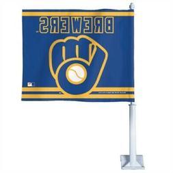 Milwaukee Brewers Retro Glove Logo Car Flag
