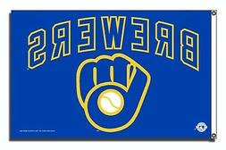 Milwaukee Brewers Rico Premium 3x5 Flag w/Grommets Outdoor H