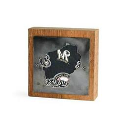 Milwaukee Brewers Rustic Wood & Metal Small Home Decor Sign