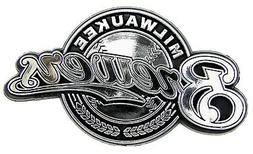 Milwaukee Brewers Silver Chrome Colored Raised Auto Emblem D