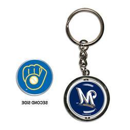 Milwaukee Brewers Spinner Keychain MLB New