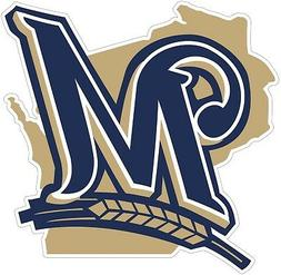 Milwaukee Brewers State MLB Vinyl Decal Sticker - You Choose