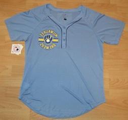 Milwaukee Brewers Vintage Logo Baseball Jersey Women's size
