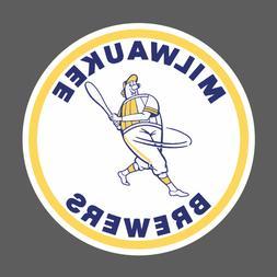 Milwaukee Brewers Wisconsin Vintage Logo 1970-1977 Sticker V