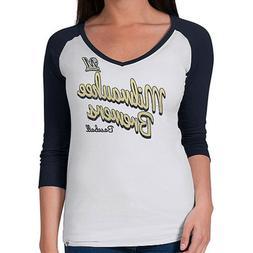 Milwaukee Brewers Women's Batter Up Tee Shirt 3/4 Sleeve MLB