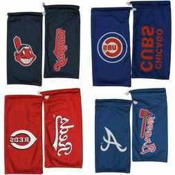 MLB Microfiber Drawstring Sunglasses Bag Pouch and Cleaning