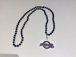 mlb milwaukee brewers beaded necklace approx 18