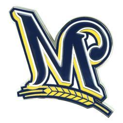 Fanmats MLB Milwaukee Brewers Diecast 3D Color Emblem-Car Tr