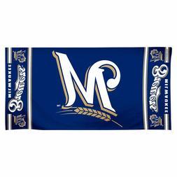 """Beach Towels 30"""" x 60"""" Fiber Reactive - MLB Milwaukee Brewer"""
