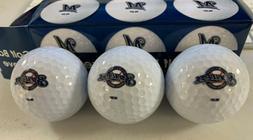 mlb milwaukee brewers golf balls pack of