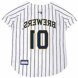 Pets First MLB Milwaukee Brewers Jersey for Dogs