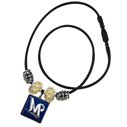 WinCraft MLB Milwaukee Brewers Life Tiles Necklace Blue Tile