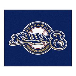 FANMATS MLB Milwaukee Brewers Nylon Face Tailgater Rug