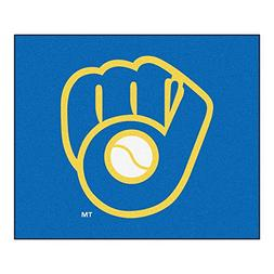"""MLB Milwaukee Brewers """"Ball In Glove"""" Tailgater Rug, 60"""" x 7"""