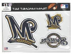 Rico Industries MLB Milwaukee Brewers Team Magnet Set