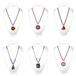 MLB Teams Mardi Gras Beads Necklace with Medallion - Choose
