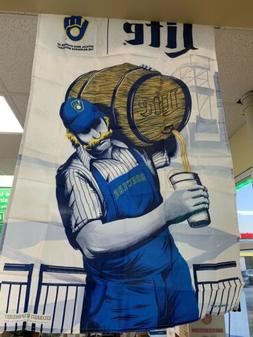 New Limited Ed Rare Milwaukee Brewers Bernie Miller Lite Fla