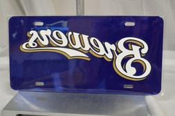 new milwaukee brewers crystal mirror license plate