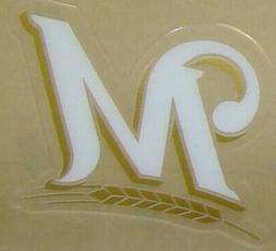 NEW MILWAUKEE BREWERS FULL SIZE HELMET 3M STICKER DECAL
