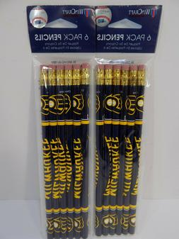 NEW MILWAUKEE BREWERS WINCRAFT PENCILS 2-6 PACKS 12 TOTAL