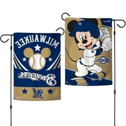 New MLB Disney Mickey Mouse Milwaukee Brewers MLB 2 Sided 12