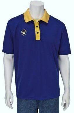 NEW MLB Milwaukee Brewers Polo Golf Shirt - Sizes M, L or XL