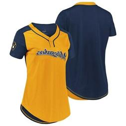 New MLB Milwaukee Brewers Majestic Women's Cool Base T-Shirt