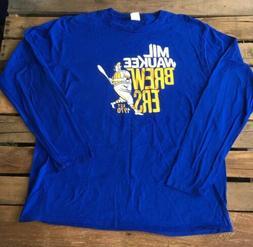 New SGA Milwaukee Brewers Long Sleeve T Shirt 4/20/18 Bernie