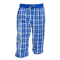 NEW w/Tags MLB Milwaukee Brewers Blue Capri Pants - Size S o