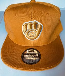NWT Mens Milwaukee Brewers Baseball Cap Fitted Hat Multi Siz