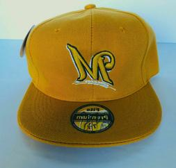 NWT Mens Milwaukee Brewers Baseball Cap Fitted Hat Camel/Mus