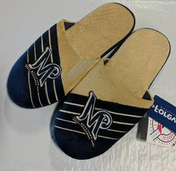 Pair Milwaukee Brewers Big Logo Slide Slippers Team Color Ho