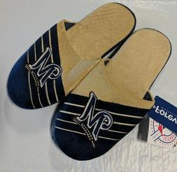 Pair Milwaukee Brewers Big Logo Slide Slippers Team Color Ho