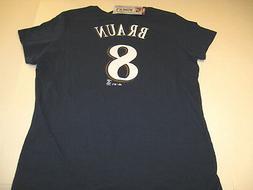 Ryan Braun Milwaukee Brewers #8 MLB Baseball Jersey T-Shirt