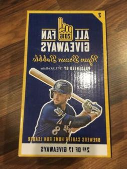 Ryan Braun Milwaukee Brewers Bobblehead SGA Brewers Career H