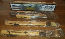 SGA POTAWATOMI MILWAUKEE BREWERS GRILLING SET TONGS SPATULA