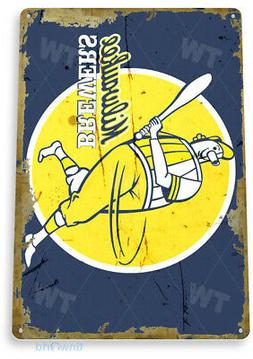 TIN SIGN Milwaukee Brewers Retro Metal Décor Miller Park St